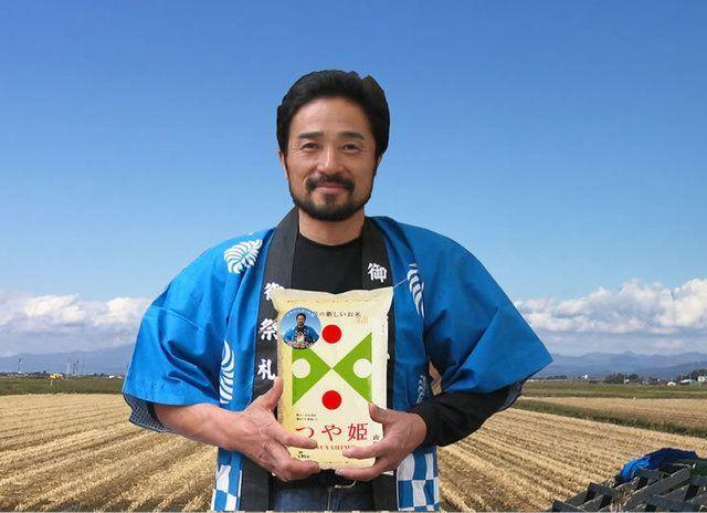 お米番付2018グランプリの板垣 弘志氏 農薬8割カットの特別栽培米 山形県産つや姫